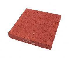 Квадратный кирпич красный