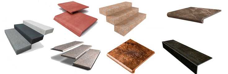 Ступени бетонные и клинкерные